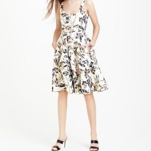 J. Crew Garden Foil Leaf Dress Size 10